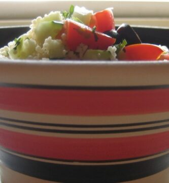 Receta de ensalada con Cuscús