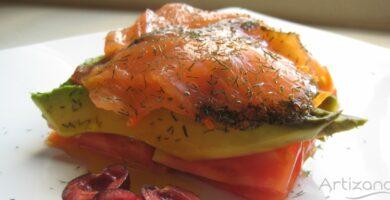 Receta de Salmon y aguacate