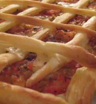 Receta riquisima de Hojaldre con tomate y Gruyere, rico y sano