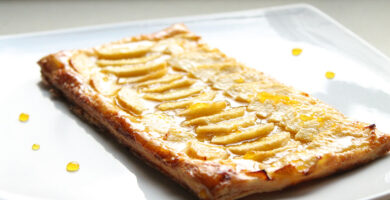 Receta de pastel de manzana con hojaldre