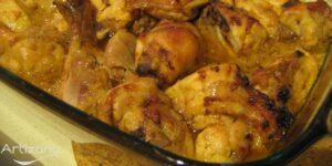 Receta de pollo al horno con limon