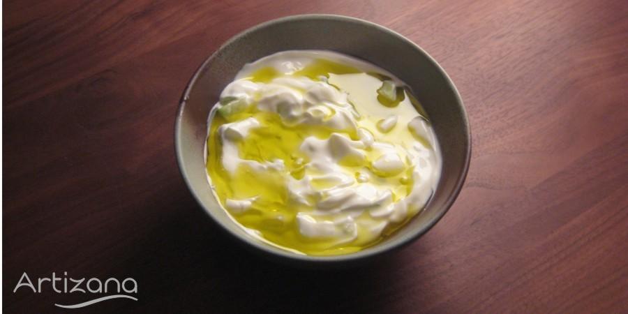 Salsa de yogurt y pepino receta