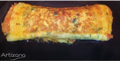 Receta sencilla de tortilla de tomate y ajo