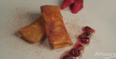 Receta de delicias de crema y azúcar quemado.