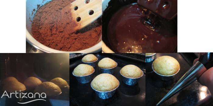 Preparación de Muffins de chocolate