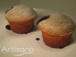Presentación Muffins de chocolate
