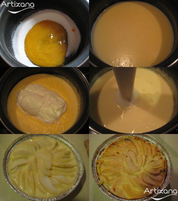 Preparación del relleno para nuestra tarta de pera