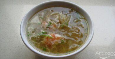 Receta de sopa de Pollo asiatica