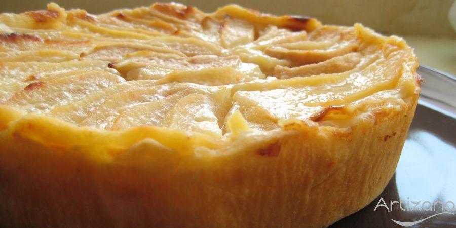 Receta de tarta de pera con yogur